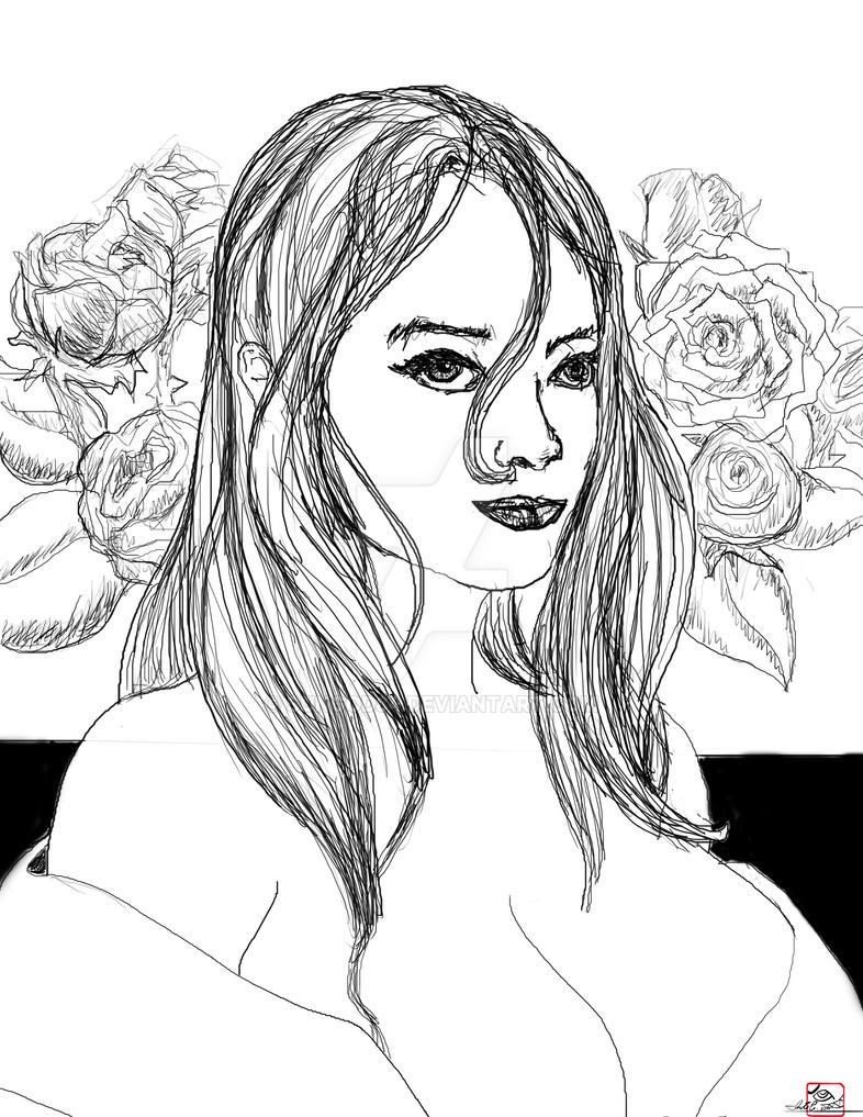 Mujer de las rosas by Sungod84