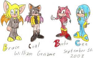 Bruce, Coal, Berlin, and Cee