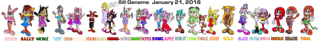 25 Awesome Sonic Characters by germanname