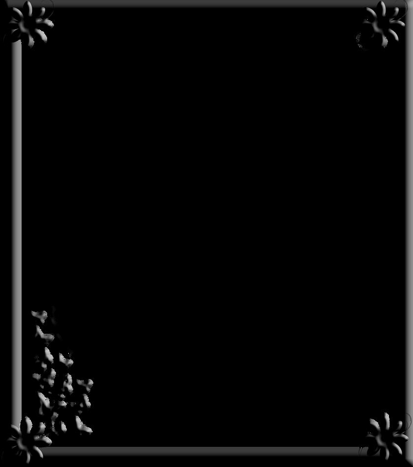 Gothic Border Flowers By Spidergypsy