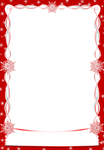 Christmas snowflakes Frames Red