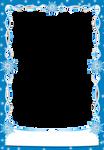 Christmas snowflakes Frames Blue