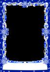 Christmas snowflakes Frames Blue Dark