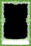 Christmas snowflakes Frames Green