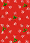 Wrapping Christmas paper red