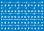 Wrapping Christmas paper blue