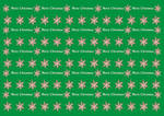 Wrapping Christmas paper green