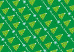 Wrapping Paper gifts Christmas tree Green