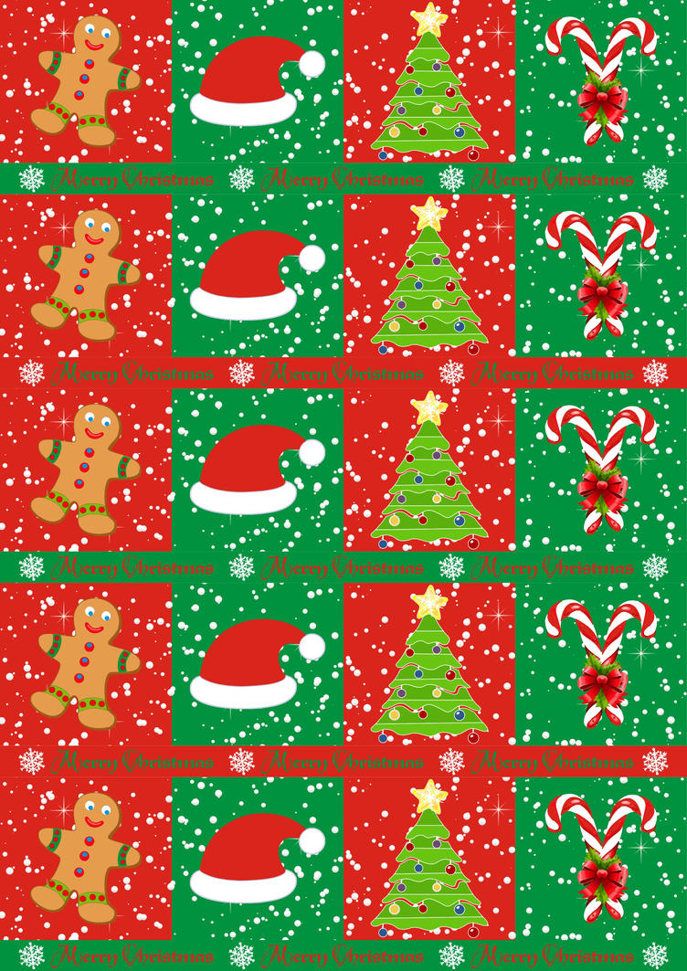Christmas Gifts wrapping paper by spidergypsy on DeviantArt