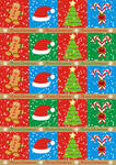 Gifts wrapping paper blue