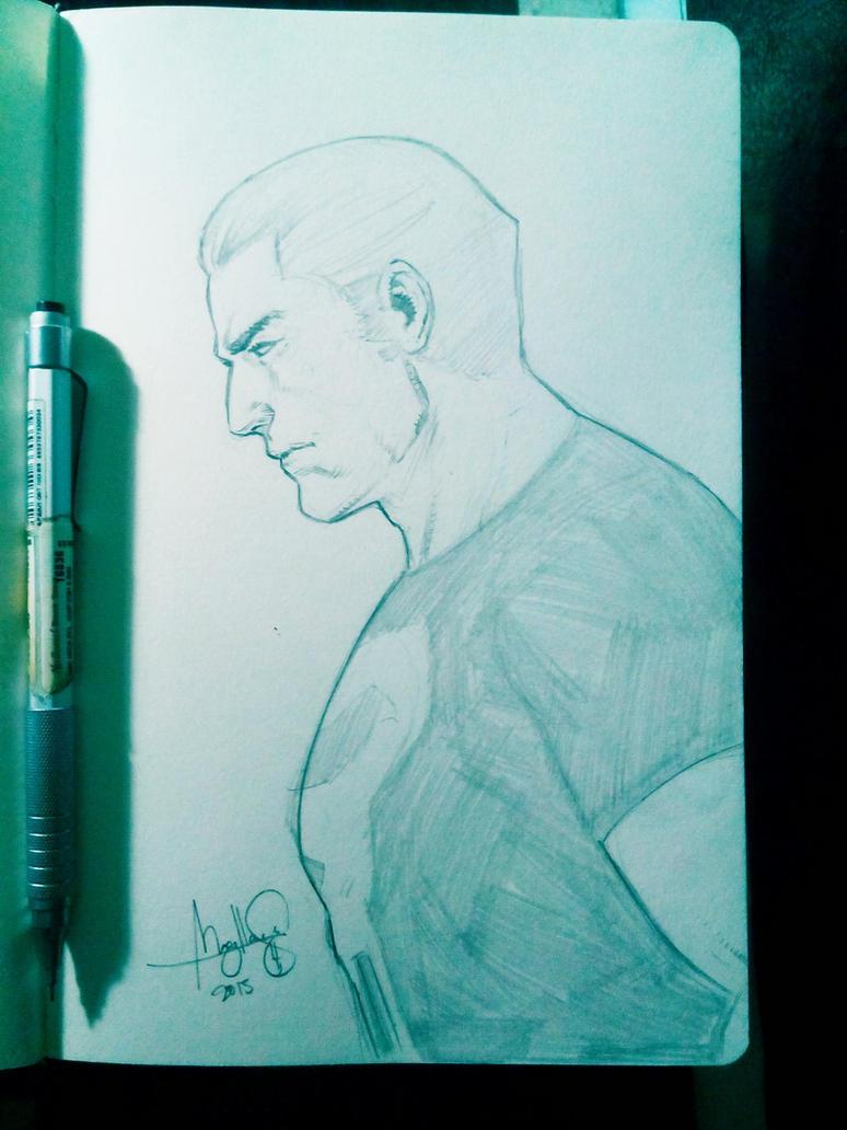 punisher sketch by ashkel