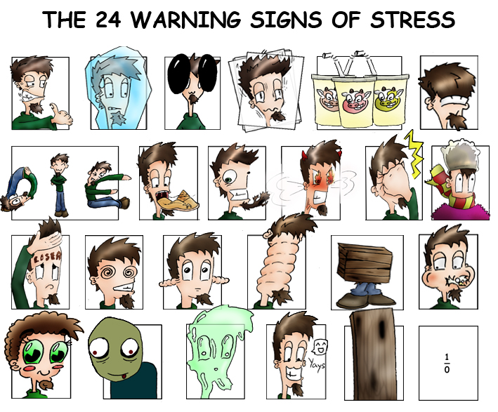 24 signs of stress by CogitoIJ