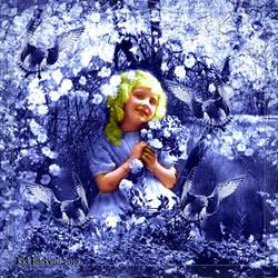 VINTAGE LITTLE GIRL by Rickbw1