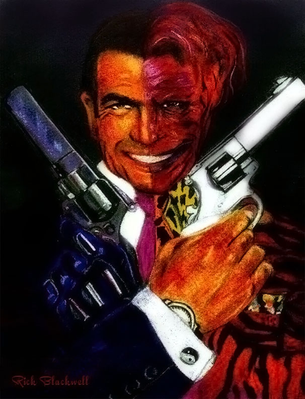 Tommy Lee Jones as Two Face by Rickbw1
