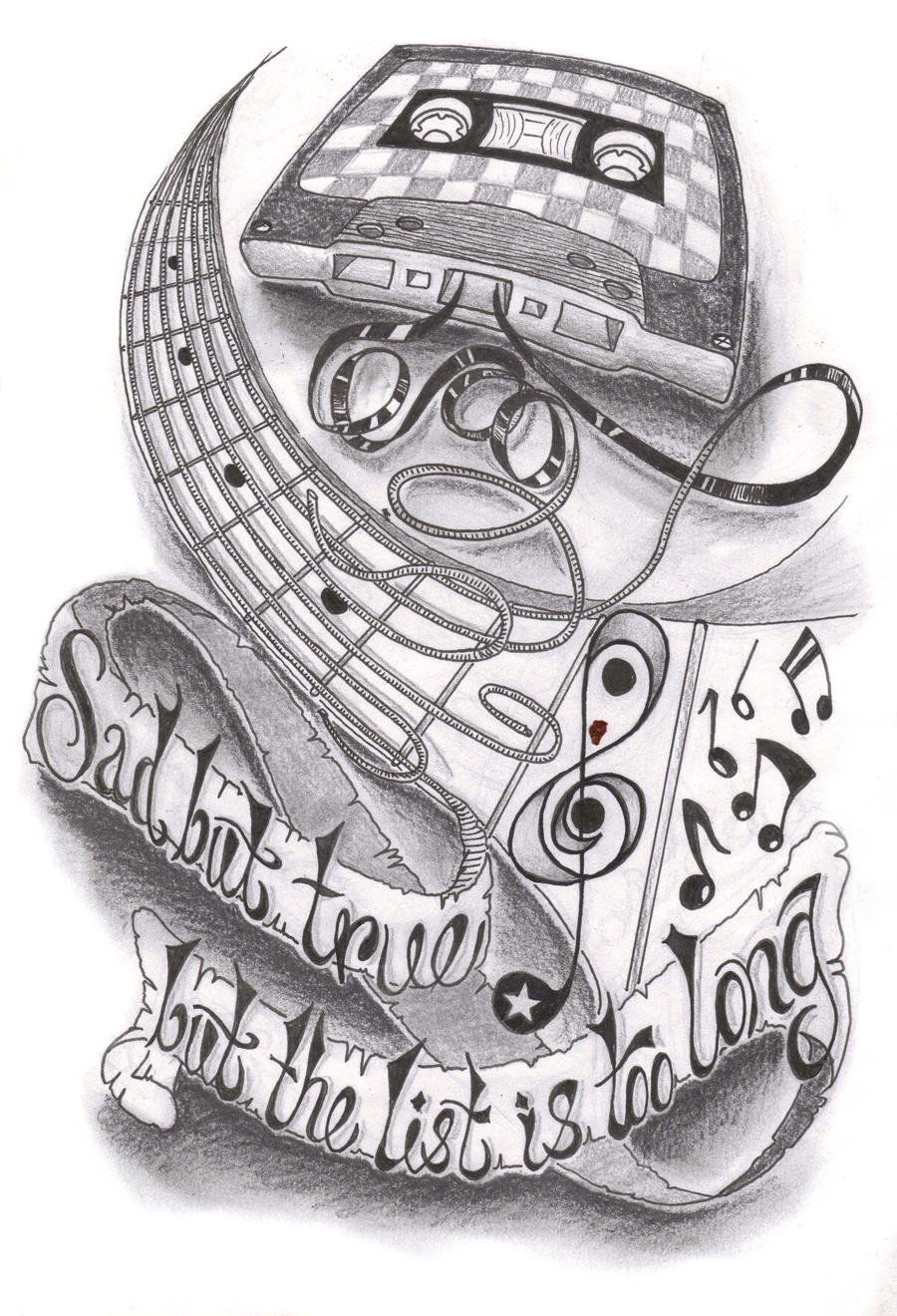 Tattoo Sleeve Sketches: Music Half Sleeve By Dfletcher54734 On DeviantArt