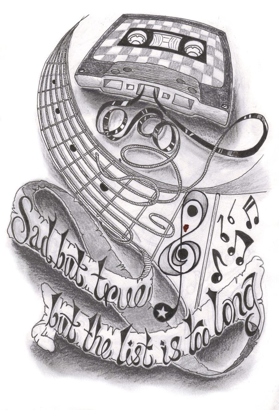 Music half sleeve by dfletcher54734 on deviantart for Half sleeve tattoo sketches