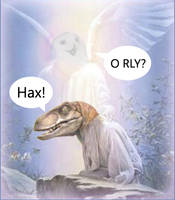 Raptor Jesus and the Holy ORLY by Pheonia-Serafial