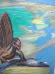 Pastel Dimetrodon (unfinished)