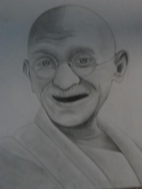 Mohandas Karamchand Gandhi by CHRlSTOPHER