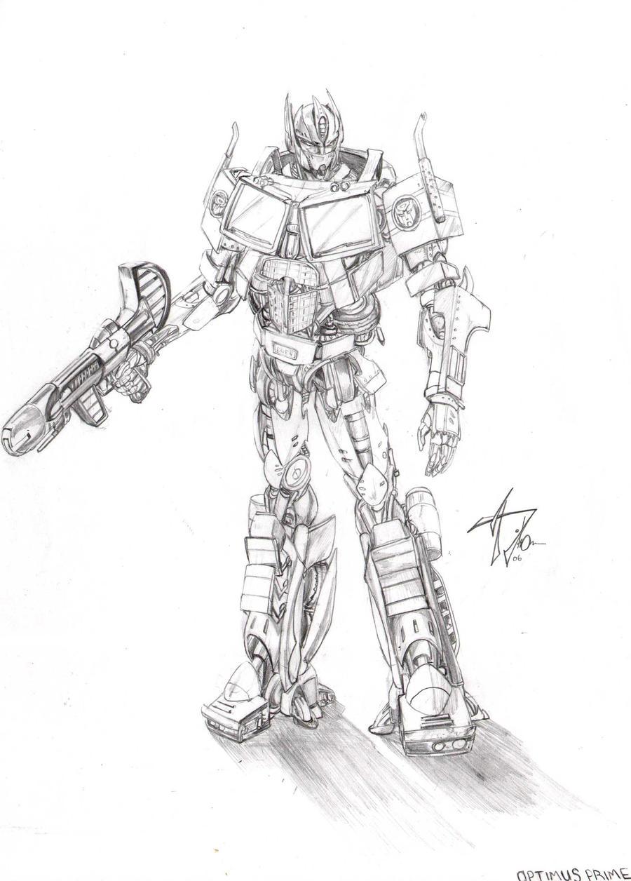 Transformers Optimus Prime Drawings Optimus Prime Drawing By