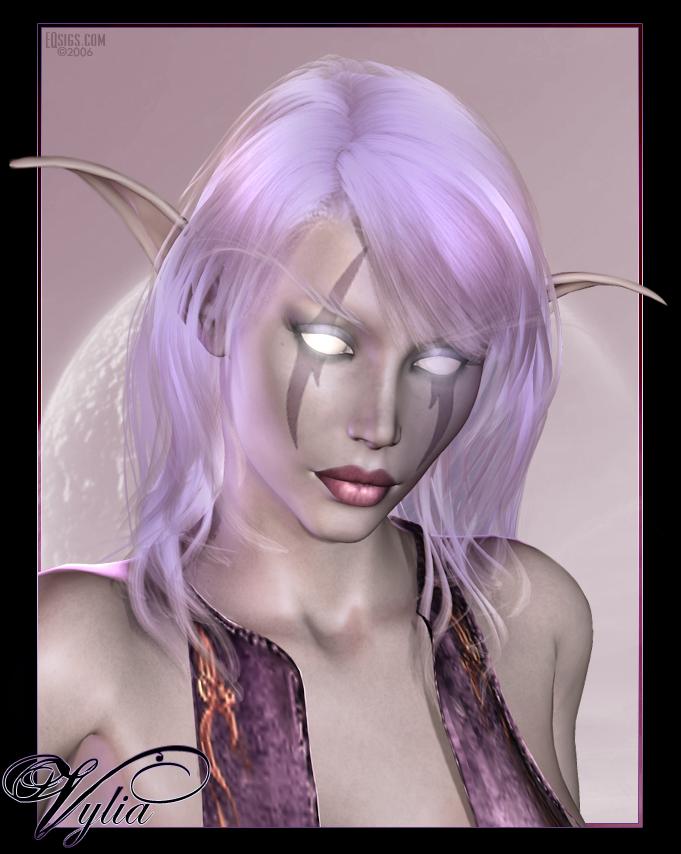 Vylia - Night Elf Portrait by Sabreyn