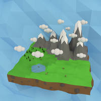 Low Poly Mountains by JoeyBlendhead