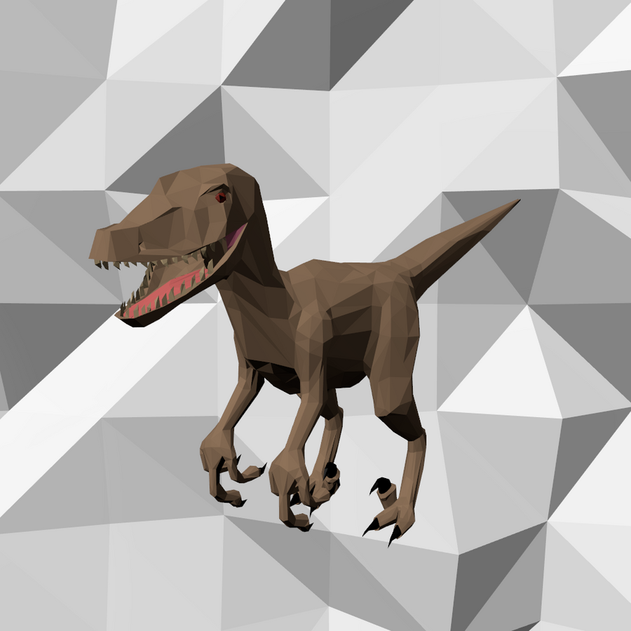 Low Poly Dinosaur by JoeyBlendhead