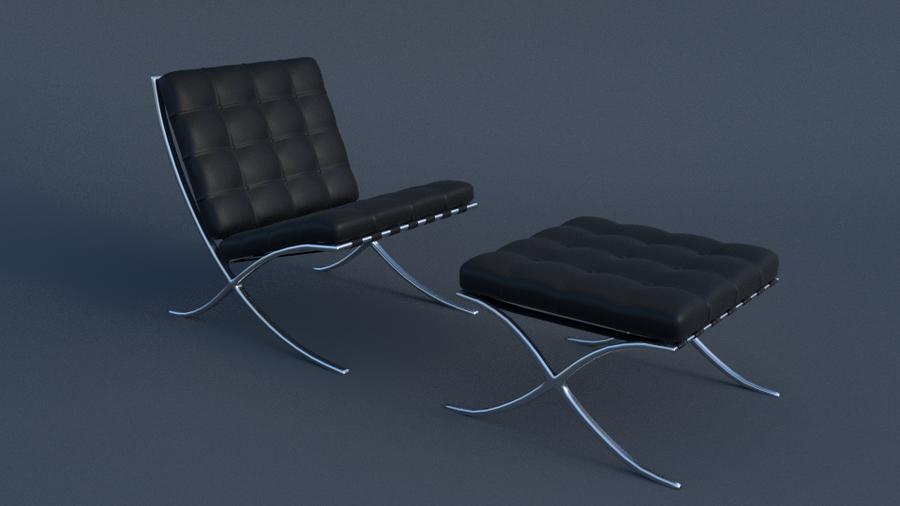 Attirant Barcelona Chair And Footstool By JoeyBlendhead ...