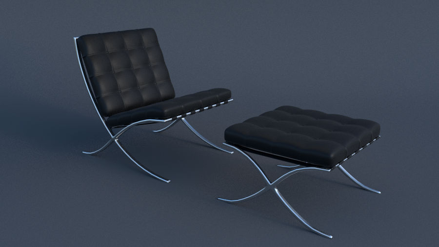Barcelona Chair and Footstool by JoeyBlendhead
