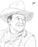 John Wayne Sketch by JoeyBlendhead