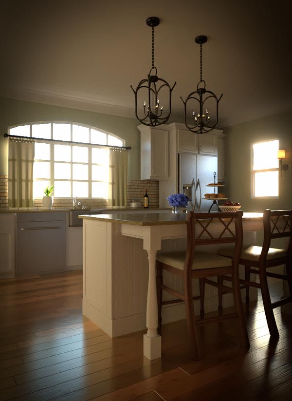 Kitchen 3D Render by JoeyBlendhead