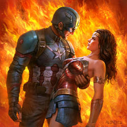 When Wonder Woman Met Captain America