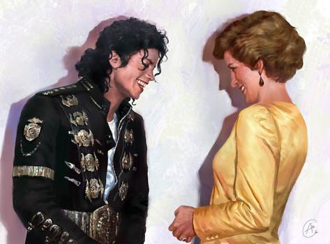 The King of pop met the queen of hearts