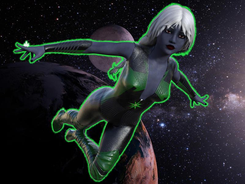 Drow Green Lantern by ashuramarsh