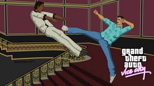 Tommy Vercetti Vice City Karate Kick