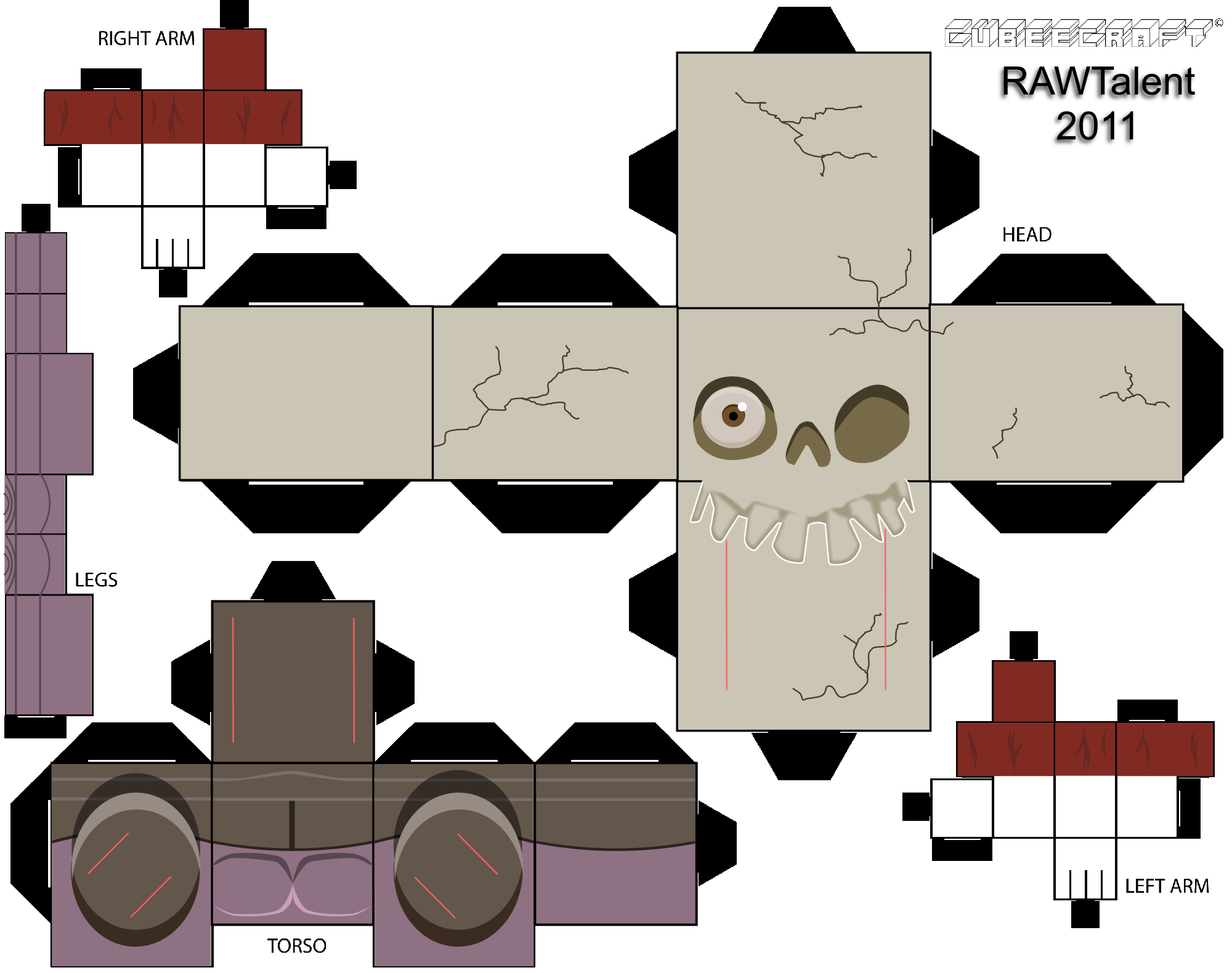 Sir Daniel Fortesque Cubee Template by RAWTalent93