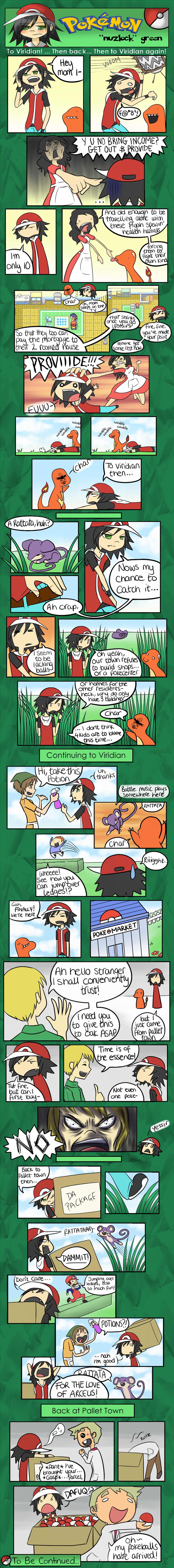 Pokemon 'Nuzlock' Green Pg3 by xXxBLUExROSExXx