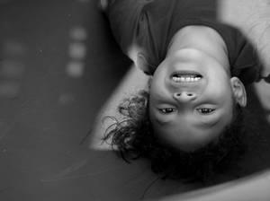 upsidedown portrait