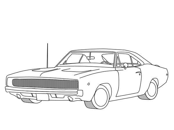 Muscle Car Lineart By Formula Uk On Deviantart