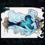 Inktober52 : Wave