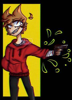 He be using a gun