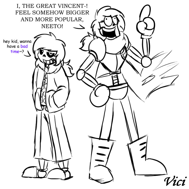 Sans and papyrus vinnie by shnowbilicat on deviantart for Sans coloring page