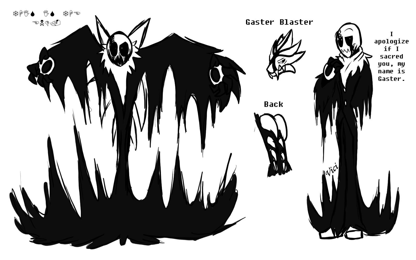 Monstertale Gaster By Shnowbilicat On Deviantart