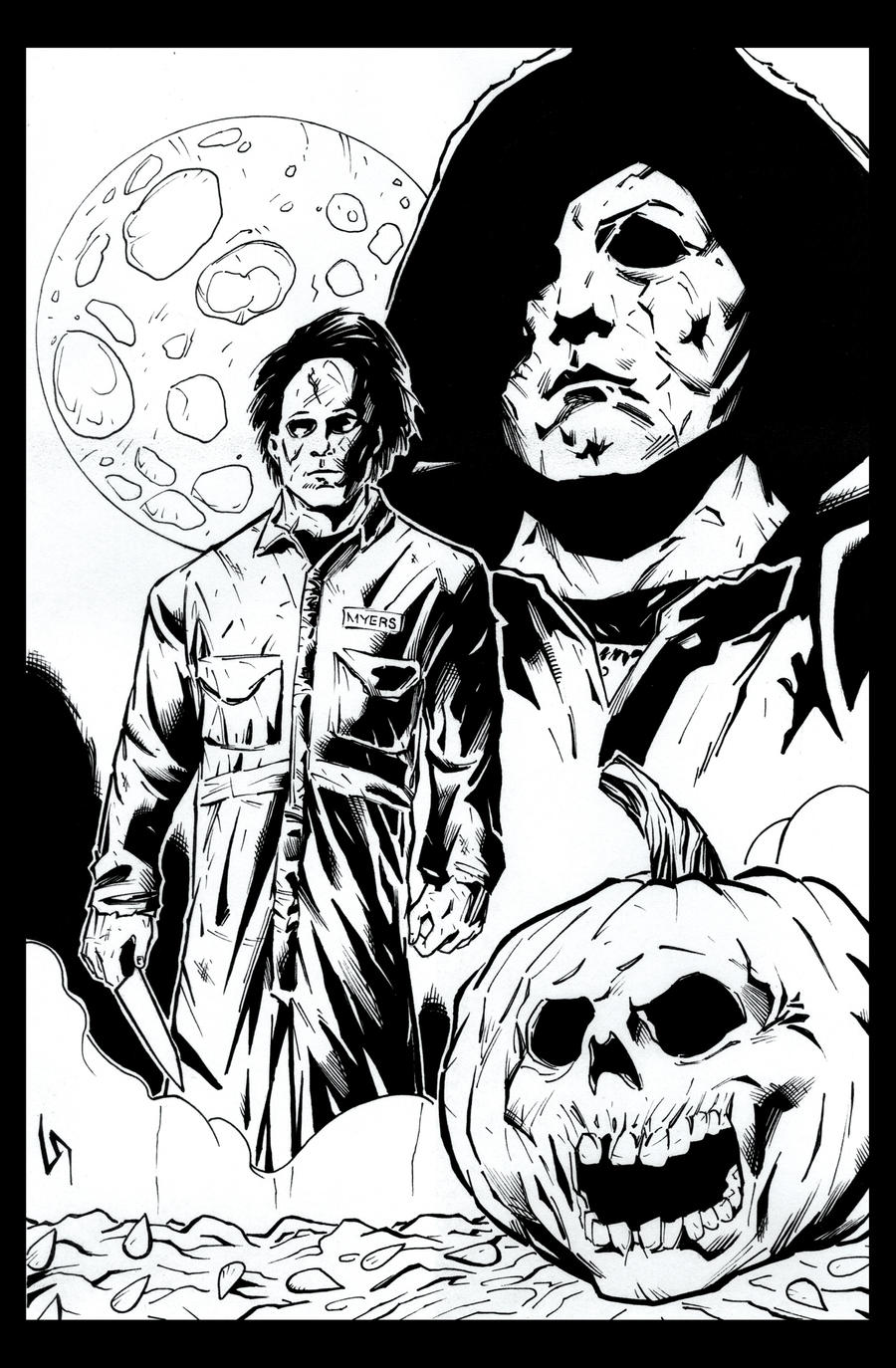 michael myers coloring pages-#6
