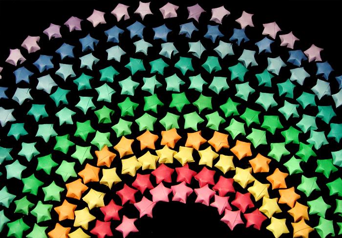Origami Stars-Rainbow by kurostarSunny