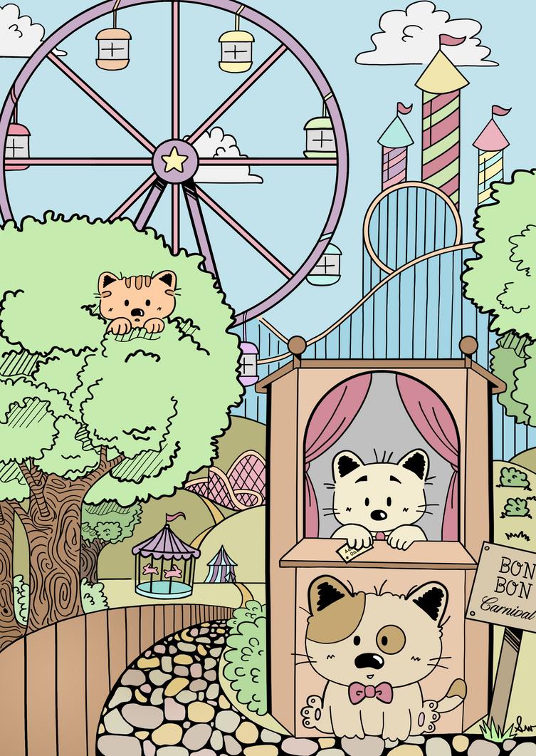 Bon Bon Cat Circus by KuroStarSunny