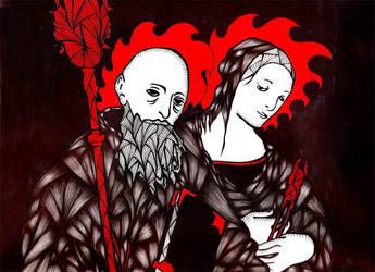 Two Saints by Cthulu2112