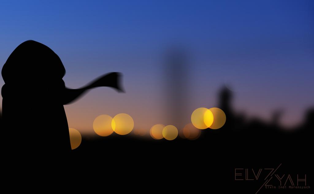 Bokeh silhouette by ElvZyah21