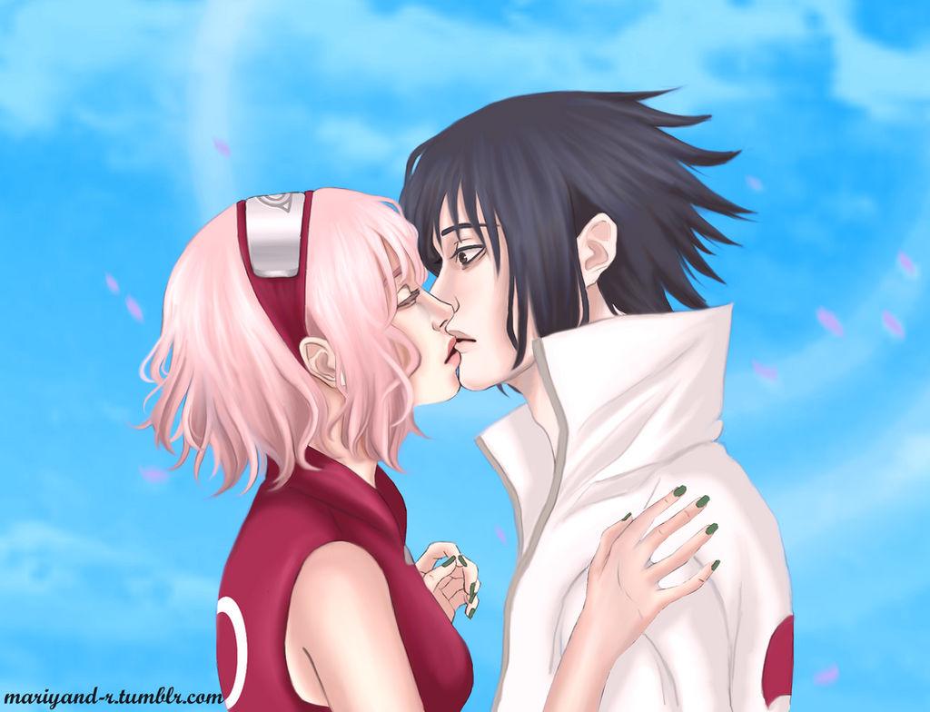 And sakura kiss sasuke Sasuke and