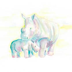 Rhinos by shahuskies